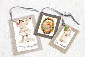 Weihnachtliche Grußkärtchen