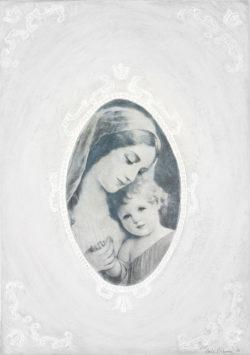 Madonna mit Kind, 50x70, Acryl auf Holz
