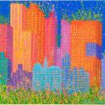 Spring in New York 2006, 60x50cm, Acryl auf Leinwand
