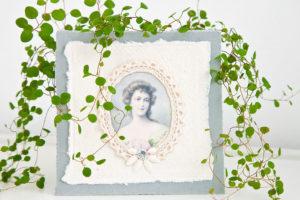 romantische Karte im Vintage Look als Deko oder zum Verschenken